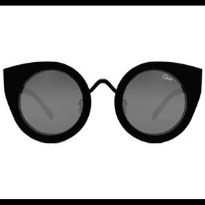 Quay Tainted Love All Black Cat Eye Glasses